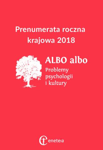ALBO albo 2018 prenumerata krajowa roczna