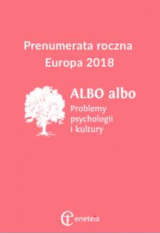 ALBO albo 2018 prenumerata zagraniczna (Europa)