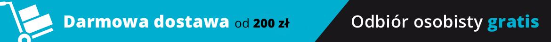 Darmowa dostawa już od 150 zł! Odbiór osobisty gratis